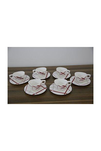 Luminarc Couture 6'lı Beyaz Çay Fincanı Seti 220 Ml