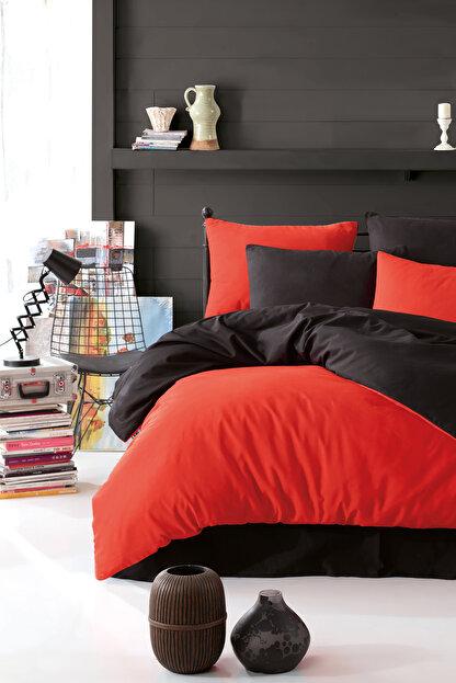 Ev & Ev Home Çift Kişilik Paint Nevresim Takımı Mix Kırmızı-Siyah