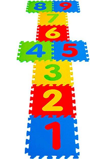 AVDA 9 Parça Büyük Boy Rakamlı Sayılı Eva Oyun Karosu Yer Matı Puzzle Yapboz