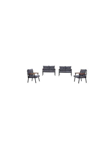 Mobilyamspot Koyu Gri Bahçe Sandalyesi Ve Balkon Koltuk Takımı - Patentli Ürün 2 2 1 1 Bahçe Koltuk Balkon Seti 1