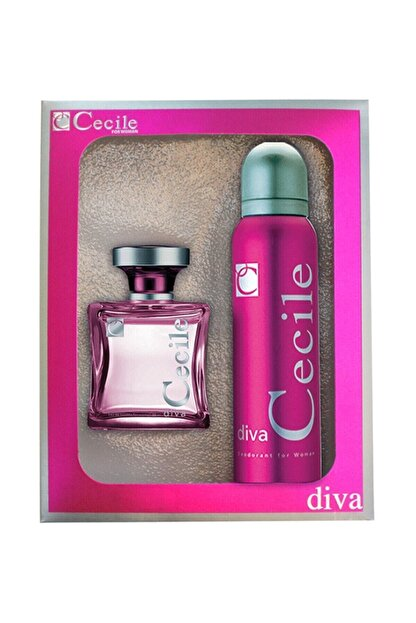 Cecile Diva Edt 100 ml + Deodorant 150 ml - Kadın Parfüm Seti 8698438005685