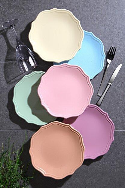 Kitchen Life Özel Tasarım Mat Romeo Pasta Tabağı Seti 6 lı
