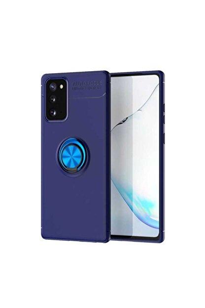 Samsung S20 Fe Yüzüklü Standlı Nezih Case Silikon Kılıf (soft Tasarım) Mavi