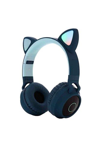 OEM Kart Girişli Kedi Bluetooth Kulaklık Yüksek Ses Akıllı LED Kulaklık   12 Saat Fazla Şarj Zw-028