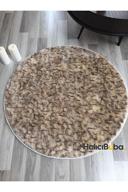 HALICIBUBA Kaymaz Yuvarlak Tilki Kahve Post Halı