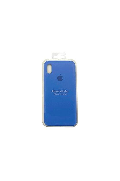 Ebotek Iphone Xs Max Kılıf Silikon Içi Kadife Lansman Kot Mavisi