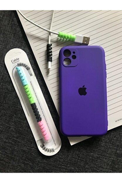 SUPPO Iphone 11 Kamera Korumalı Model, Logolu Lansman Kılıf Kablo Koruyucu