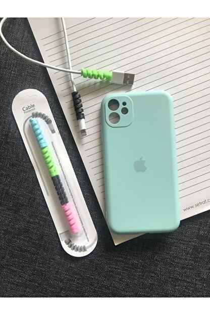 SUPPO Iphone 11 Kamera Korumalı Model Logolu Lansman Kılıf Kablo Koruyucu