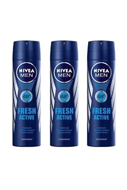 Nivea Men Deodorant Fresh Active 3 X 150 Ml