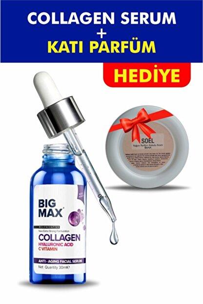 BİG MAX Kolajen C Vitamini Hyaluronik Asit Aydınlatıcı Ve Kırışıklık Karşıtı Yüz Serumu 30 ml