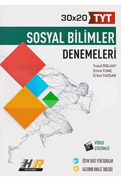 Hız ve Renk Yayınları Tyt Sosyal Bilimler 30 x 20 Denemeleri