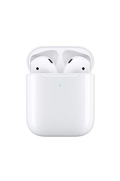 BySarsa Beyaz Iphone Uyumlu Airpods 2. Nesil Wireless Şarj Bluetooth Kulaklık