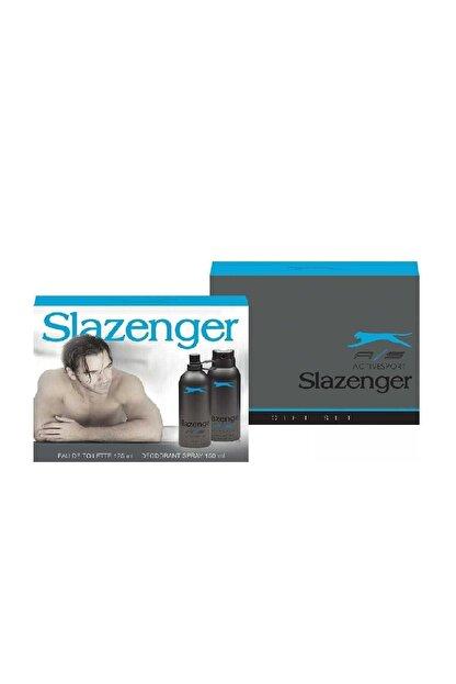 Slazenger Active Sport Mavi 125 ml Erkek Parfüm ve 150 ml Deodorant Set