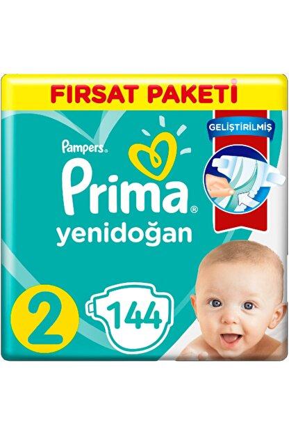 Prima 2 Beden Yenidoğan Bebek Bezi Fırsat Paketi (2*72) 144 Adet