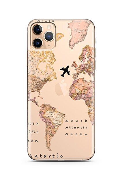 Spoyi Transparan Harita Tasarım Süper Şeffaf Silikon Telefon Kılıfı Iphone 11 Pro