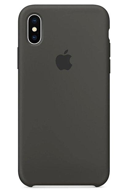 Ebotek Iphone Xs Max Kılıf Silikon Içi Kadife Lansman Gri