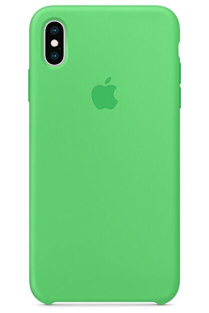 Ebotek Iphone Xs Max Kılıf Silikon Içi Kadife Lansman Yeşil