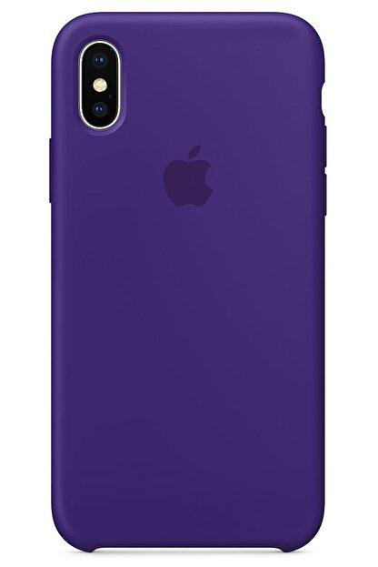 Ebotek Iphone Xs Max Kılıf Silikon Içi Kadife Lansman Mor