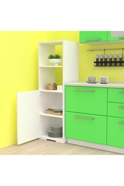 Kenzlife Beyaz Kenzlife 150*45*30 cm Banyo Kiler Ofis  Mutfak Dolabı