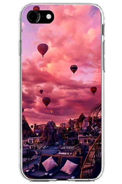 Noprin Apple Iphone Se 2020 Kılıf Silikon Baskılı Desenli Arka Kapak