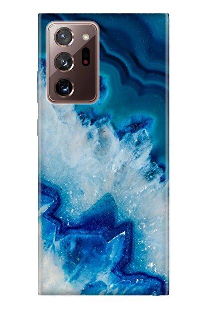 cupcase Samsung Galaxy Note 20 Ultra Kılıf Desenli Silikon Telefon Kapak - Koyu Ametist
