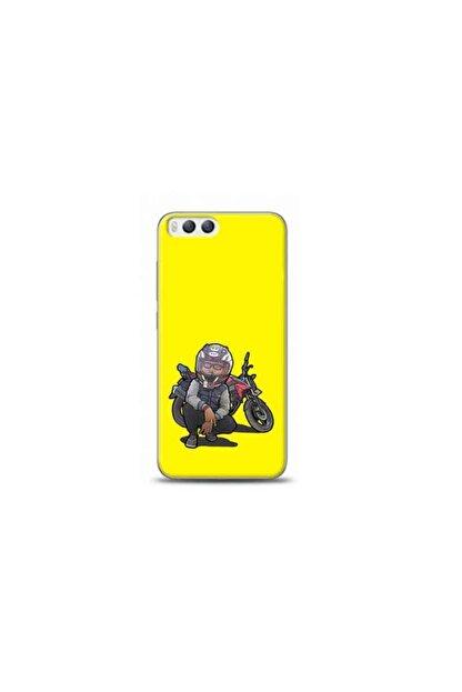 Kılıf Madeni Xiaomi Mi 6 Motorcu Sarı Koleksiyon Telefon Kılıfı Y-srklf051