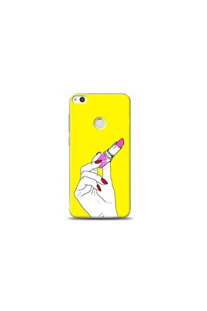 Kılıf Madeni Huawei Honor 8 Lite Ruj Sarı Koleksiyon Telefon Kılıfı Y-srklf011