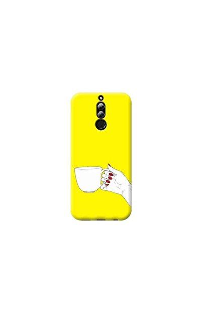 Kılıf Madeni Huawei Mate 10 Lite Kahve Sarı Koleksiyon Telefon Kılıfı