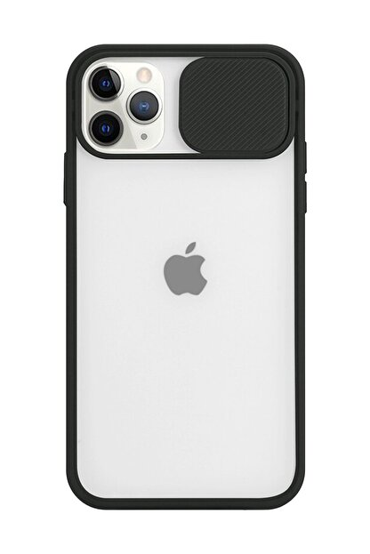 Spoyi Iphone 11 Pro Max Kamera Lens Korumalı Siyah Telefon Kılıfı
