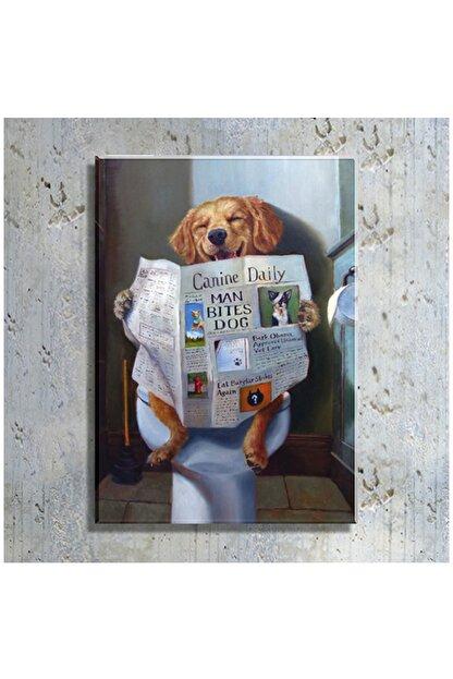 mağazacım Lucia Heffernan Gazete Okuyan Köpek Yağlı Boya Reprodüksiyon (70x100 Cm) Kanvas Tablo Tbl1127