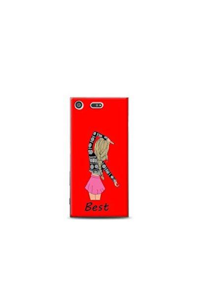 Kılıf Madeni Sony Xperia Xz Premium Best Tasarımlı Kırmızı Telefon Kılıfı Y-krmklf077