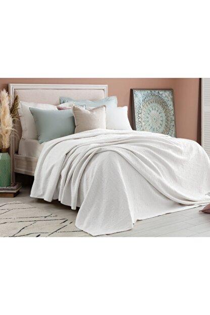 Madame Coco Elita King Size Yatak Örtüsü - Beyaz