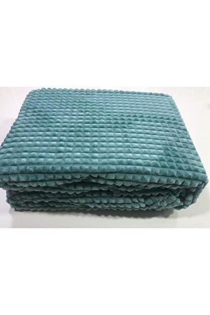 Merinos Yeni Ürün Piramit Çift Kişilik Battaniye Mint Yeşili