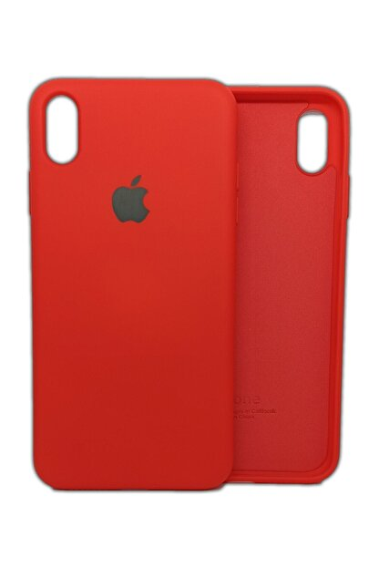 Ebotek Iphone Xs Max Kılıf Silikon Içi Kadife Lansman Kırmızı