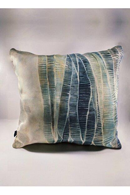 BENLİSSO Home Collection & Textile Kırlent Kılıfı 45x45 Özel Tasarım (SU YEŞİLİ)