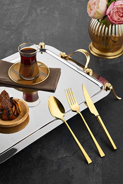 ÖZLİFE Titanyum 36 Parça Çatal Kaşık Bıçak Takımı