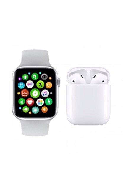 SmartWatch Akıllı Saat Smart Watch T500 + Airpods 12 Kablosuz Kulaklık 2'li