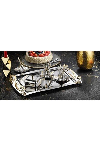 İslamoğlu Çay Sanatı 40 Parça Çay Seti Inna Gold Altın Kaplama