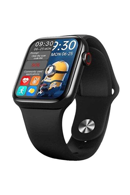 X-GEAR Smartwatch Hw16 Premium Siyah Türkçe Akıllı Saat Hd Ips Tam Ekran Akıcı Arayüz Suya Dayanıklı