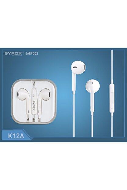 Syrox K12a 3.5 mm Jak Girişli Mikrofonlu Iphone Uyumlu  Kulaklık