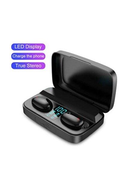Earbuds Bluetooth Spor Kulaklık, Led Göstergeli, 1800 Mah Powerbank, Su Geçirmez Tws A10s - Siyah