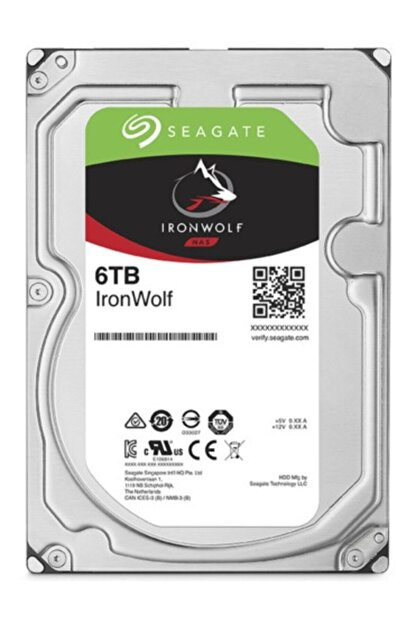 Seagate 3.5'' 6 Tb Ironwolf St6000vn001 5400rpm Sata 3.0 Hard Disk