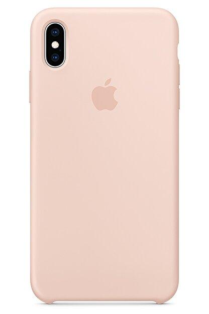Ebotek Iphone Xs Max Kılıf Silikon Içi Kadife Lansman Toz Pembe