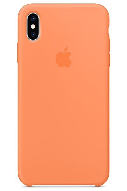 Ebotek Iphone Xs Max Kılıf Silikon Içi Kadife Lansman Papaya