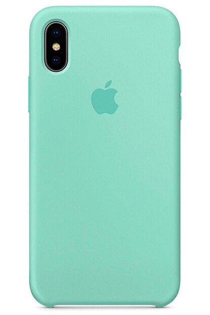 Ebotek Iphone Xs Max Kılıf Silikon Içi Kadife Lansman Turkuaz