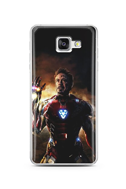 Spoyi Samsung A5 (2016) Iron Man Tasarım Silikon Telefon Kılıfı