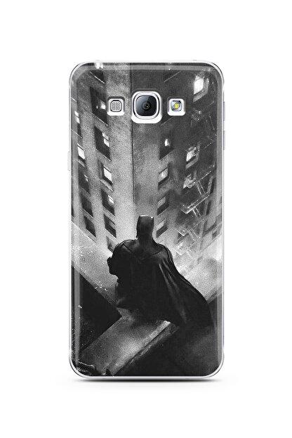 Spoyi Samsung A8 2015 Batman Tasarım Süper Şeffaf Silikon Telefon Kılıfı