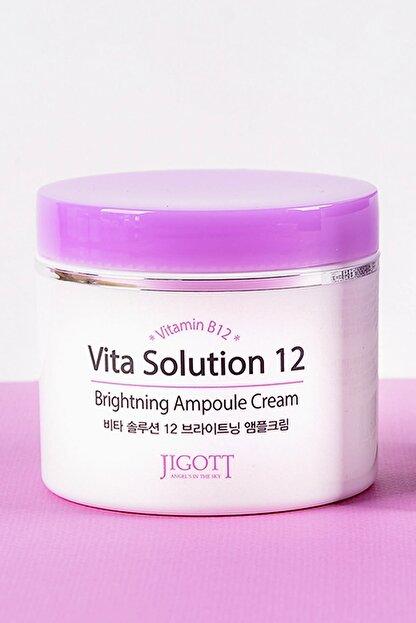 Jigott Aydınlatıcı, Sıkılaştırıcı, Kırışıklık Karşıtı Ve Yoğun Nemlendirici Vitamin B12 Ampul Krem 100 Ml