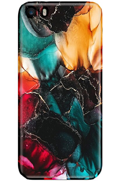 Turkiyecepaksesuar Apple Iphone 5s Kılıf Silikon Baskılı Desenli Arka Kapak