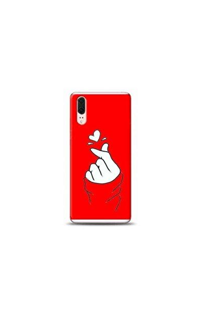 Kılıf City Huawei P20 Seni Seviyorum Kırmızı Koleksiyon Telefon Kılıfı